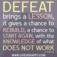 Difference in Temporary Defeat and Failure